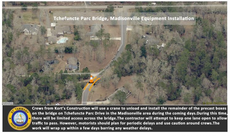 Tchefuncte Parc Bridge Replacement Will Enhance Safety and Drainage upon Completion