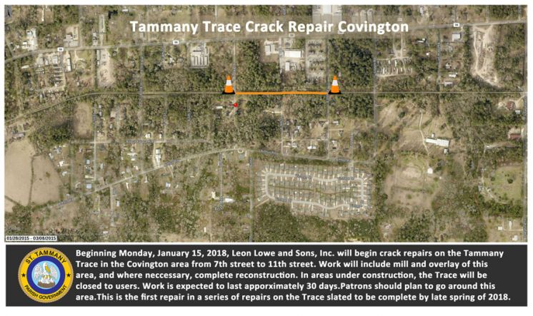 Meandering Trace Maintenance Project Kicks off Monday, January 15, 2018