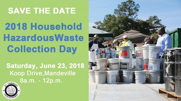 2018 Household Hazardous Waste Collection Day Scheduled
