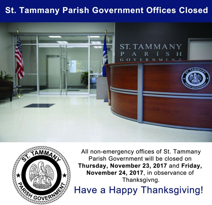 Offices Closed in Observance of Thanksgiving