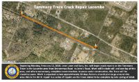 Crews Move to Third Location of Trace Maintenance Project Monday, February 12, 2018