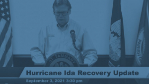 PRESIDENT COOPER GIVES UPDATE ON HURRICANE IDA RECOVERY 9/3/2021